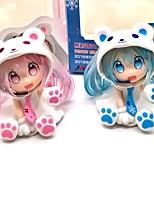 baratos -Figuras de Ação Anime Inspirado por Vocaloid Snow Miku 7 CM modelo Brinquedos Boneca de Brinquedo