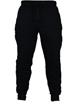 cheap -Men's Running Pants Flannel lined Bottoms for Running/Jogging Fishing Casual Outdoor Traveling Cotton Polyester Loose Dark Navy Grey Dark