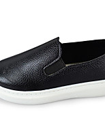 cheap -Girls' Shoes Leather Spring Fall Comfort Loafers & Slip-Ons for Casual Red Black White