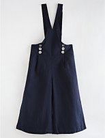 cheap -Girl's Solid Dress,Cotton Spring, Fall, Winter, Summer Vintage Street chic Blue Navy Blue Gray