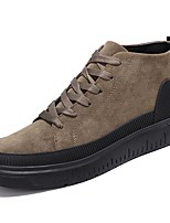 cheap -Men's Shoes Nubuck leather PU Spring Fall Comfort Sneakers for Casual Khaki Black