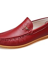 cheap -Men's Shoes Real Leather Spring Fall Driving Shoes Comfort Loafers & Slip-Ons for Casual Red Yellow Black
