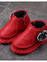 cheap -Girls' Shoes PU Winter Fall Comfort Snow Boots Boots Booties/Ankle Boots for Casual Red Black