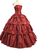 cheap -Shrugs Rococo Victorian Costume Adults' One Piece Dress Outfits Masquerade Red Vintage Cosplay Taffeta Short Sleeves Puff/Balloon Ankle