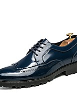 cheap -Men's Shoes Synthetic Microfiber PU Spring Fall Formal Shoes Oxfords for Casual Office & Career Blue Black White