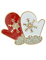 Women's Brooches Jewelry Basic Cartoon Alloy Snowflake Jewelry For Christmas Date