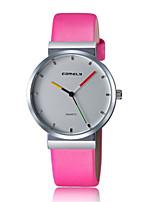 abordables -Mujer Reloj Casual Reloj de Moda Reloj de Pulsera Chino Cuarzo Reloj Casual Piel Banda Casual Elegant Negro Azul Rosa