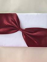 Недорогие -Атлас Романтика Фантастика СвадьбаWithЛенты 1 коробка Гостевая книга