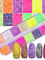 cheap -1set Luxury Elegant & Luxurious Bling Bling Sequins Nail Glitter Glitter Powder Pattern Nail Art Design Nail Art Tips