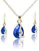 cheap -Women's Jewelry Set Bridal Jewelry Sets Simple Fashion Wedding Evening Party Crystal Gold Plated 1 Necklace Earrings
