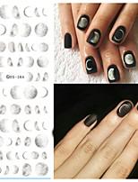 Недорогие -1 Наклейки для ногтей Наклейка для ногтей черный увядает Украшение для дизайна ногтей
