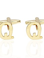 cheap -Letter Golden Cufflinks Copper Basic Fashion Daily Formal Men's Costume Jewelry