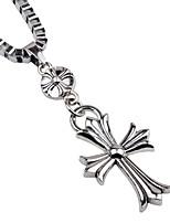 cheap -Men's Cross Skull Fashion Oversized Pendant Necklace Chain Necklace , Alloy Pendant Necklace Chain Necklace , Street Bar