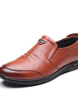 cheap -Men's Shoes Cowhide Spring Fall Comfort Loafers & Slip-Ons for Casual Brown Black