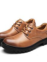 abordables -Hombre Zapatos Cuero Primavera Otoño Confort Oxfords para Casual Negro Marrón Claro Morrón Oscuro