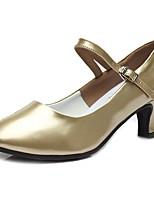 "cheap -Women's Modern Patent Leather TPU Heel Practice Cuban Heel Gold 2"" - 2 3/4"" Customizable"