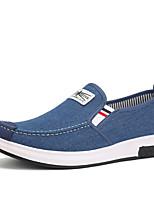 abordables -Hombre Zapatos PU Tela Vaquero Tejido Primavera Verano Confort Suelas con luz Zapatos de taco bajo y Slip-On Paseo Encaje Cosido para