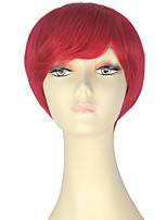 cheap -Women Synthetic Wig Short Straight Red Lolita Wig Party Wig Halloween Wig Carnival Wig Cosplay Wig Natural Wigs Costume Wig