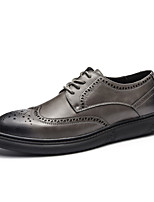 cheap -Men's Shoes Cowhide Spring Fall Comfort Oxfords for Casual Office & Career Gray Black