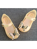cheap -Girls' Shoes PVC Leather Spring Summer Light Up Shoes Slippers & Flip-Flops LED for Casual White Black Orange Pink