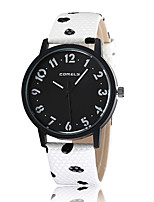 cheap -Women's Casual Watch Fashion Watch Wrist watch Chinese Quartz Casual Watch Leather Band Casual Elegant Black White