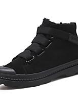 Недорогие -Для мужчин обувь Натуральная кожа Оксфорд Кожа Зима Осень Зимние сапоги Модная обувь Ботильоны Ботинки Ботинки Кружева для Повседневные