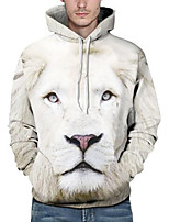Men's Casual/Daily Simple Hoodie Print Hooded Inelastic Polyester Long Sleeve Winter Fall