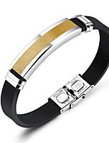 abordables -Homme Bracelets d'identification Bracelet , Pierre Mode Le gel de silice Titane Acier Forme Géométrique , Bijoux Quotidien Plein Air