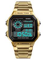 preiswerte -Herrn Sportuhr Armbanduhr Digitaluhr Japanisch digital Alarm Kalender Chronograph Wasserdicht Duale Zeitzonen Stopuhr Nachts leuchtend