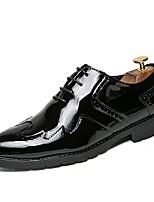 abordables -Hombre Zapatos PU Primavera Otoño Confort Zapatos formales Oxfords Nulo Encaje Cosido para Fiesta y Noche Dorado Negro