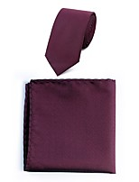 cheap -Men's Polyester Necktie,Simple Casual Dots All Seasons Wine