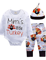 cheap -Baby Unisex Daily Going out Print Clothing Set,Cotton All Seasons Simple Casual Long Sleeve White