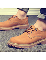 cheap -Men's Shoes Nubuck leather PU Spring Fall Comfort Oxfords for Casual Khaki Camel Brown