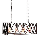 Vintage Industrial Metal Pendant Lights 4 Light Living Room Dining Room  Kitchen Cafe Hanging Lighting Fixture