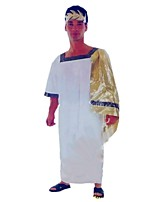 cheap -Ancient Greece Costume Men's Women's Party Costume Masquerade White Vintage Cosplay Polyester 1/2 Length Sleeve Bell Ankle Length
