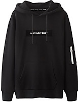 cheap -Men's Daily Wear Hoodie Letter V Neck Micro-elastic Cotton Long Sleeves Fall