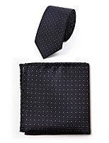 Men's Polyester Necktie,Simple Casual Dots All Seasons Gray