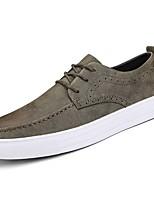 Недорогие -Для мужчин обувь Резина Весна Осень Удобная обувь Кеды Ботинки Ленты для Черный Серый Коричневый