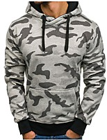 cheap -Men's Sports Vintage Hoodie Camouflage Hoodie Hoodies Micro-elastic Cotton Long Sleeve Spring/Fall Autumn/Fall