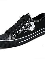 preiswerte -Damen Schuhe PU Herbst Komfort Sneakers Flacher Absatz Runde Zehe für Normal Weiß Schwarz