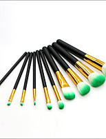 cheap -10 pcs Makeup Brush Set Blush Brush Eyeshadow Brush Lip Brush Eyeliner Brush Powder Brush Foundation Brush Nylon Synthetic Hair Full