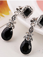 Women's Drop Earrings Rhinestone Classic Fashion Resin Alloy Drop Jewelry Gift Daily
