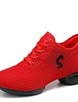 """economico -Da donna Sneakers da danza moderna Maglia traspirante Sneaker All'aperto Basso Bianco Nero Rosso 1 """"- 1 3/4"""" Personalizzabile"""