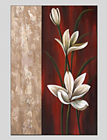 cheap -Hand-Painted Floral/Botanical Vertical Panoramic,Modern Canvas Oil Painting For Home Decoration One Panel