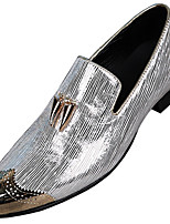 cheap -Men's Shoes Nappa Leather Spring Fall Formal Shoes Loafers & Slip-Ons for Casual Party & Evening Silver Gold