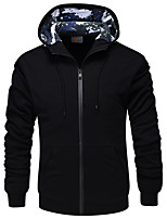 cheap -Men's Casual/Daily Hoodie Solid Hooded Micro-elastic Polyester Long Sleeve Winter