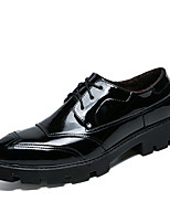 cheap -Men's Shoes Patent Leather Winter Fall Fluff Lining Comfort Oxfords for Casual Office & Career Black