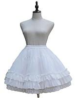 Sweet Lolita Dress Princess Lolita Women's Girls' Skirt Petticoat Cosplay Black White Sleeveless Sleeveless Knee Length