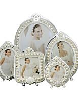 cheap -Antique French Baroque Pearl Alloy Picture Frame Unique Elegant Wedding Gift Photo Frames Desktop Decor 08S