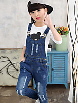 cheap -Girls' Jeans Overall & Jumpsuit,Rayon Spring Fall Simple Blue